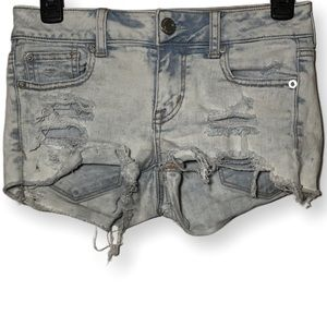 American Eagle Shortie Shorts Distressed Size 0